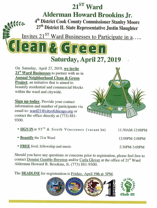 2019 Clean and Green Flier